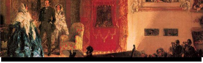 Adolph von Menzel, Le théâtre du Gymnase - 1856