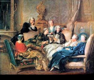 De Troy, lecture de Molière - 1728